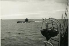 Gedser Rev fyrskib overvåger sovjetisk ubåd