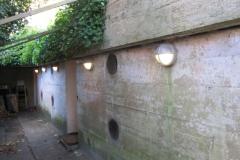 Indgangen til bunkeren