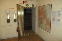Indgangen til Kommandocentralen