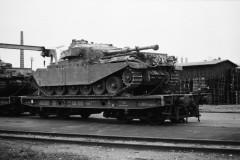 Jernbanevogn til transport af kampvogne
